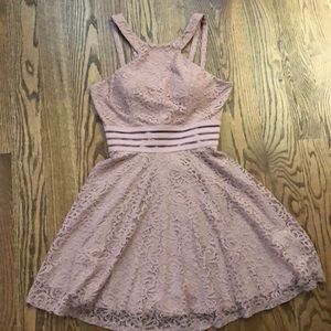 {WORN ONCE} Pink Semi-Formal Lace Dress